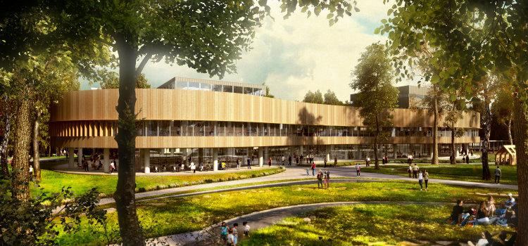 Haeahn - Daegu Leadin Library haeahn Haeahn: Architecture for the Environment Haeahn Daegu Leadin Library