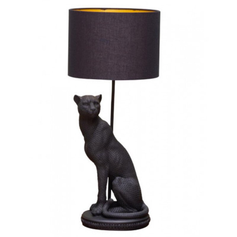 20 Table Lamps To Brighten Up Your 2021 New Year lamps 20 Table Lamps To Brighten Up Your 2021 black panther lamp bagheera2 1