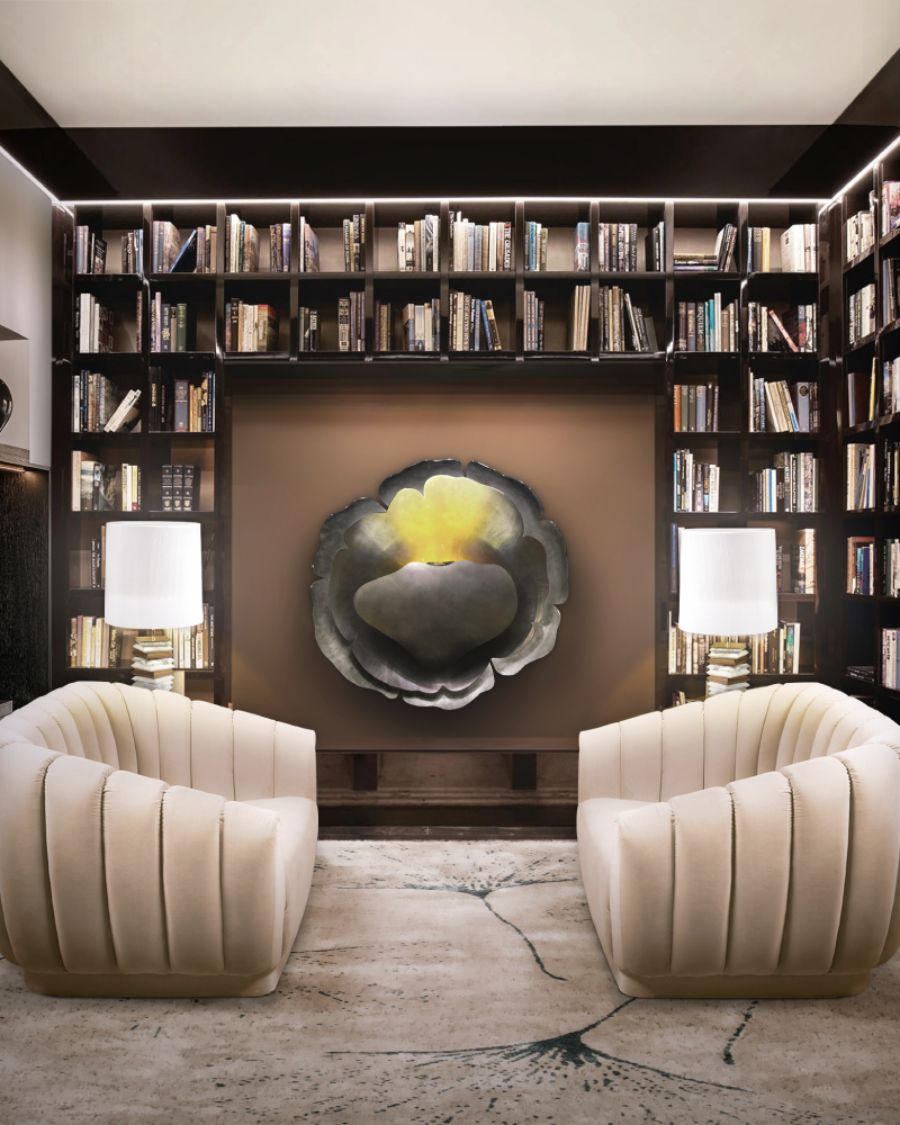 HOME LIBRABY WITH BEIGE OREAS SOFAS top interior designers Top Interior Designers From Basel – The Most Inspiring Interior Design Projects Inspired by the Look BB 2