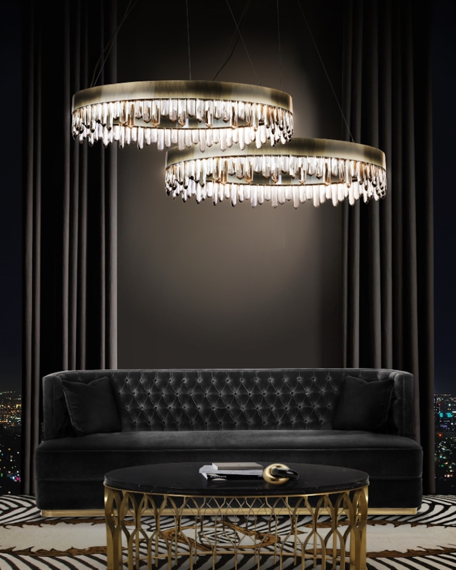 Top 20 Inspiring Interior Design Projects in Abu Dhabi top 20 inspiring interior design projects in abu dhabi Top 20 Inspiring Interior Design Projects in Abu Dhabi Modern Black Living Room with Bourbon 1