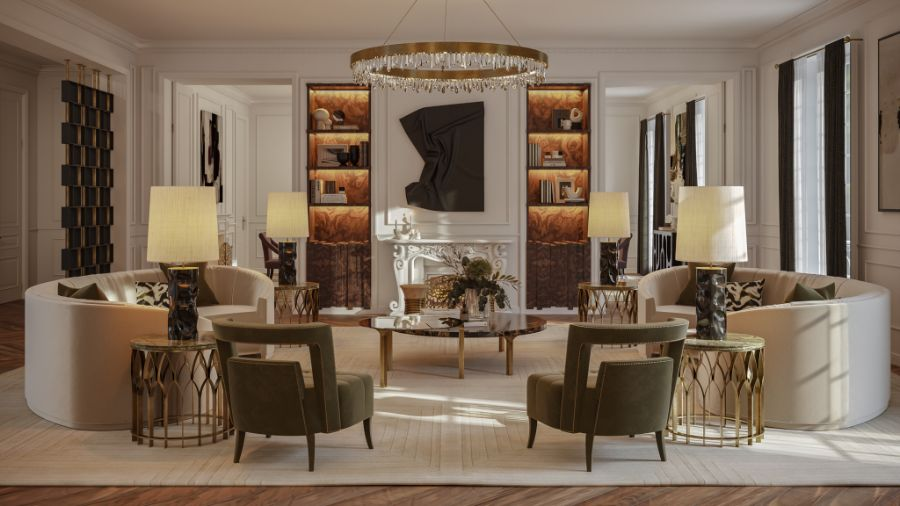 Oasis Living Room: Discover The Perfect Retreat at The 'Eternel' Parisian Apartment