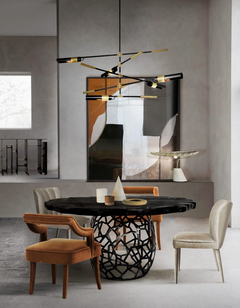 modern decor Room by Room Inspirations – Give Your Home a Modern Decor with BRABBU 4 Both minimalism and cosiness are easily attainable in this charming dining room area