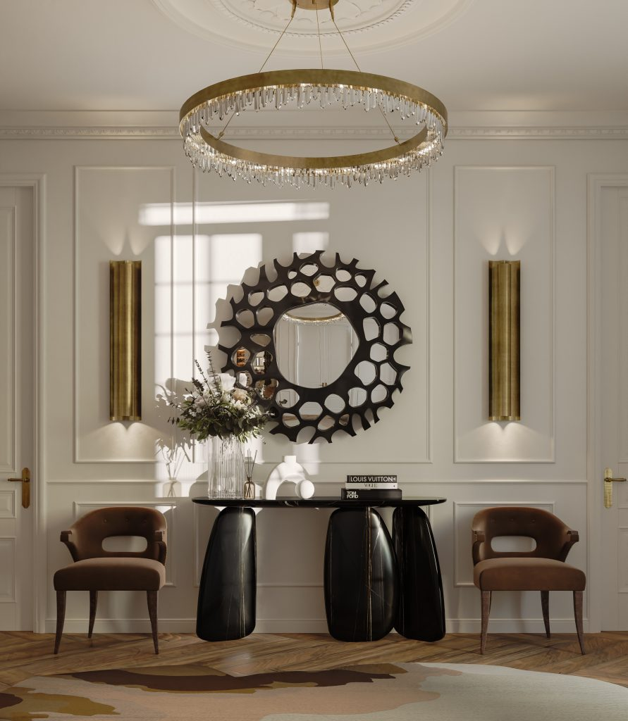 modern decor Room by Room Inspirations – Give Your Home a Modern Decor with BRABBU 5 Impress your guests with this absolutely majestic entryway counting with the hand painted ARDARA II Console 1 891x1024