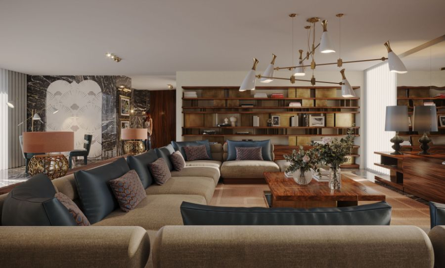 En Pleurs Living Room An Intense, Fierce & Authentic Design in Madrid