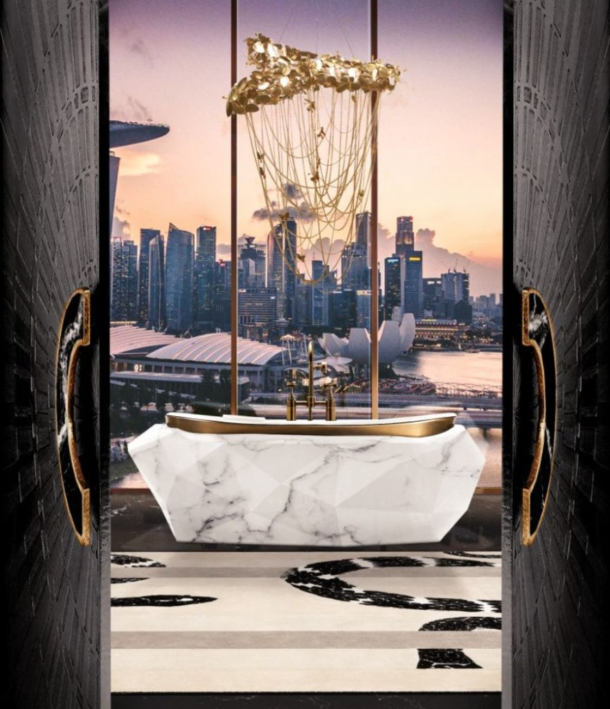 Modern Interior Design for the Bathroom by Our Sister Brand Maison Valentina