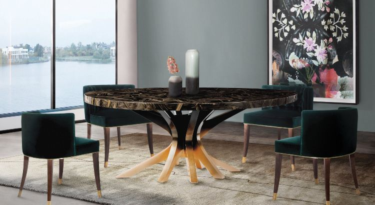 Modern Dining Room Interior Design Fresh and Cool for the Summer