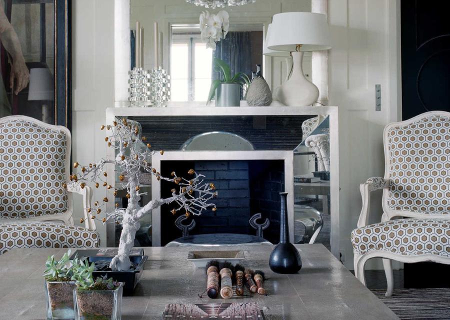 Armchair used in Jean-Louis Deniot Living Room Rue de l'Université Project