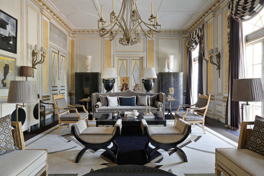 Jean-Louis Deniot Eclectic Living Room Saint Suplice Project