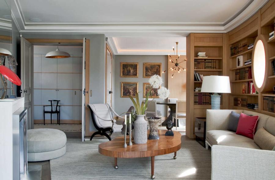 Jean-Louis Deniot Living Room Saint Germain des Prés Project
