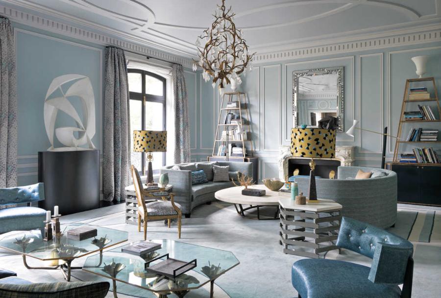 Jean-Louis Deniot Living Room Avenue Foch Project