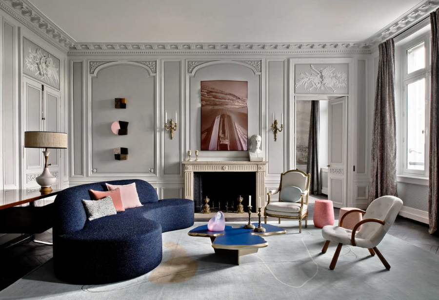 Jean-Louis Deniot Living Room Rue de Rivoli Project
