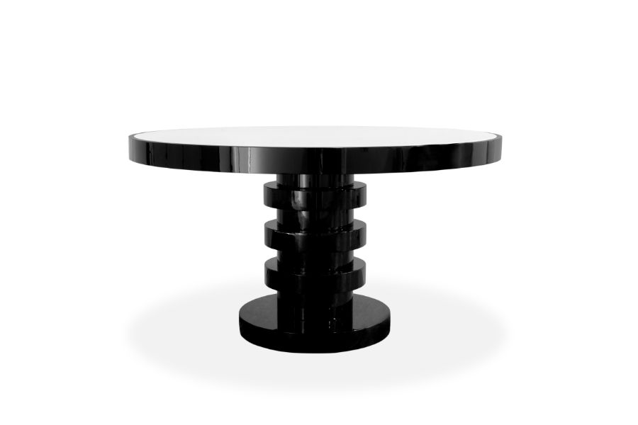 SHINTO Collection: The Fusion of Eastern Inspiration & Western Design round dining table