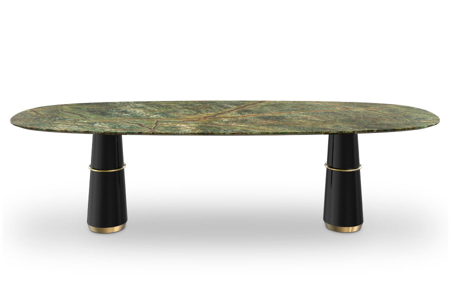 agra iii dining table by brabbu