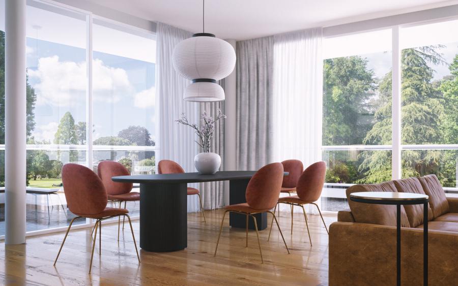 anastasia schuler design dining room contemporary classic
