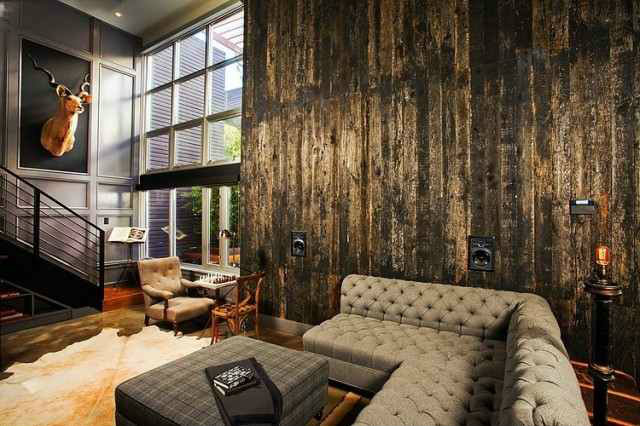 Industrial inspiration modern looks for your living room for Interior design living room vintage