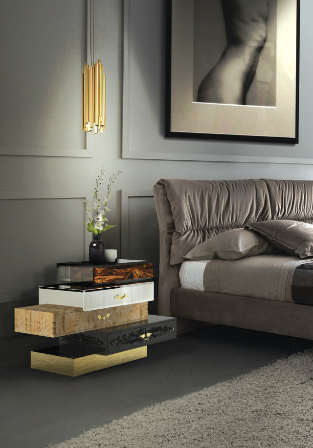 7 bedside table decor ideas from hollywood walk of fame stars for Bed table decoration