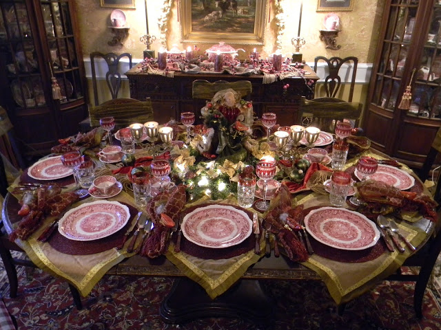 Best thanksgiving color combinations burgundy table setting for Edwardian table setting
