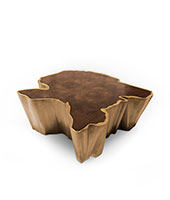 SEQUOIA Brass Coffee Table Modern Design by BRABBU is a living room furniture piece ideal for a modern home decor.
