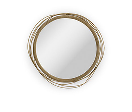 KAYAN Round Mirror Modern Design by BRABBU reflects a set of emotions in a modern home decor.
