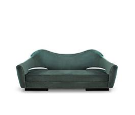 NAU | Velvet Sofa Mid Century Modern Furniture by BRABBU