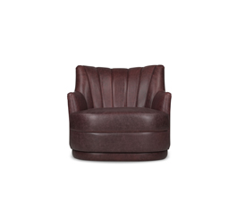 PLUM | Synthetic Leather Single Sofa Modern Contemporary Furniture by BRABBU