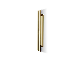 CYRUS Wall Light Contemporary Lighting Design by BRABBU fulfils your modern home decor through its hammered brass.