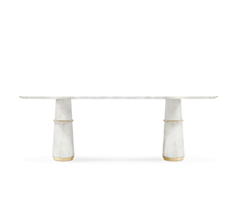 AGRA | Marble Dining Table Contemporary Design by BRABBU
