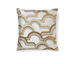 Arco-A-Volta White | Cotton Classic Design Pillow by BRABBU