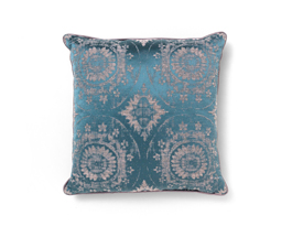 Madala Blue | Cotton Classic Design Pillow by BRABBU