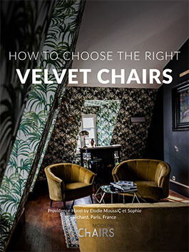 Velvet chairs can be the highlight of your living or dining room.