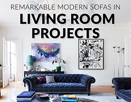 Remarkable Modern Sofas in Living Room Projects