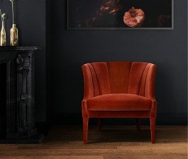 A dark and moody décor doesn't always include gloomy shades. Sprinkle a touch of colour and create a dramatic space full of life and character, just like this living room set. It features BEGONIA Armc