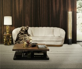 A nature inspired living room set, that strengthens all its fierceness in the wall digital art and in the root coffee table. In order to achieve a touch of modern home decor, the mid-century modern tw