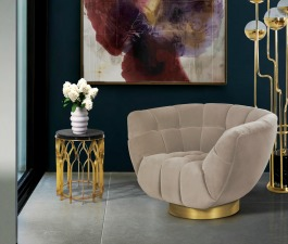 Add some luxury into your living room set or hospitality design project with ESSEX Armchair. When paired with MECCA Side Table and NIKU Floor Lamp, it creates the most elegant and welcoming corner you