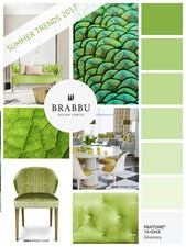 Greenery, color of the year, is a moss green mixed with an intense yellow.