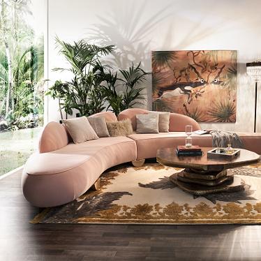 Living Room set with FITZROY Sofa in Living Coral shades  Herbstsaison Inspirationen für Ihr Wohnzimmer 1